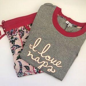 Vera Bradley Stitched Flowers Pajamas